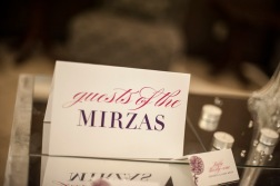 Wedding Escort Card with Signage